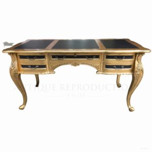 French Provincial Louis Writing Desk 5 Draw